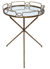 Old World Design Madelien Side Table in Champagne