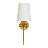 Worlds Away Delilah Gold Sconce