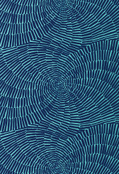 Design Inspiration Trina Turk Indoor / Outdoor This dramatic full-width print was adapted from Trina's apparel collection and features a striped pattern arranged in a spiraling, circular design.