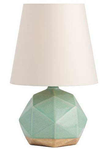 The repeating pentagon pattern created by the geometric planes on the lamp surface makes what could be just another simple sphere into something unique.