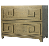 Worlds Away Wrenfield CH cherry finish 2 drawer chest