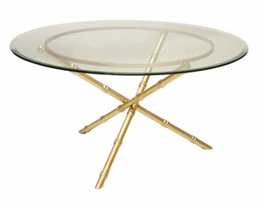GOLD LEAFED BAMBOO COFFEE TABLE BASE by Worlds Away