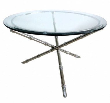 Worlds Away - SILVER COLORED, NICKEL PLATED BAMBOO COFFEE TABLE BASE
