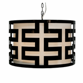 Worlds Away Hicks Light Pendant in Black