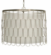 Silver leafed wire pendant Rivers chandelier by Worlds Away
