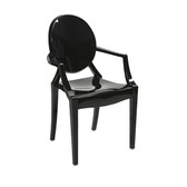 Juniper Black Ghost Chair
