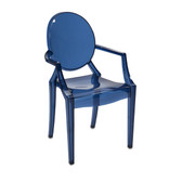 Adamaris Transparent Blue Ghost Chair