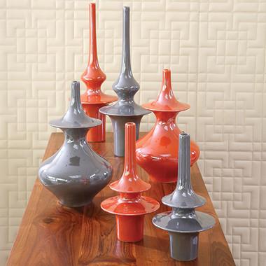 Global Views, Minaret Vase, Large, Grey