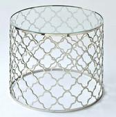 Regina Andrew Brushed Nickel Glass Top Table