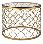 Regina Andrew Gold Leaf Beveled Glass Top Table
