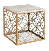 Regina Andrew Gold Leaf Cube Table
