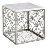 Regina Andrew Polished Nickel Cube Table