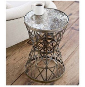 Regina Andrew Woven Brass Table Amber Mosaic Top