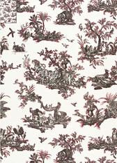 Alessandra Branca Fabric, Continenti in Noir / Rouge