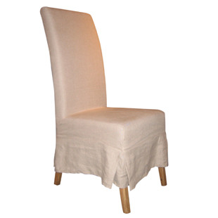 Furniture Classics Linen Slipcovered Parsons Chair