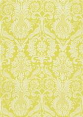 Anna Damask in Acid Green