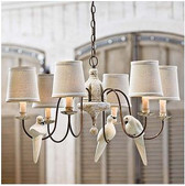 Regina Andrew Small 6 light Rusted Arm Antique Chandelier