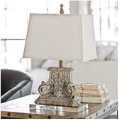 Regina Andrew Capitol-Lamp on Crystal Base