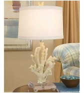 Regina Andrew White Coral Lamp on Lucite base