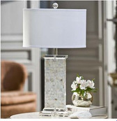Regina Andrew Crystal Mother of Pearl column lamp