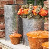 Dandelion Oval Vase-Nickel-Lg