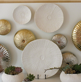 Ceramic Urchin Platter in Matte White