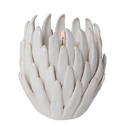 Chrysanthemum T-Lite Holder-Matte White