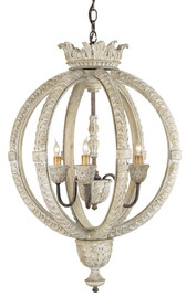 Currey & Company Dauphin Chandelier, Small