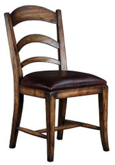 PASTORAL LEATHER SIDE CHAIR - WALNUT