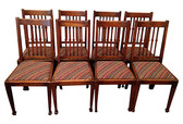 Oak Dining Chairs, S/8