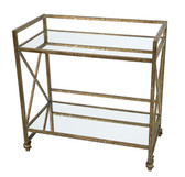 Old World Design Houston rectangular mirrored bar cart