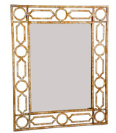 Clark rectangular metal mirror