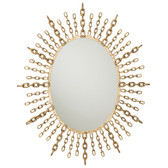Arteriors Chain Oval Mirror
