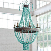 Beautifully intricate and spectacularly designed Regina Andrews Beaded TourquoiseChandelier