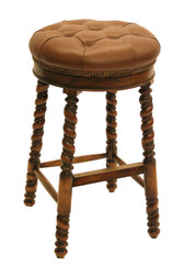 SWIVE COUNTER STOOL-COGNAC