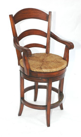 SWIVEL PASTORAL COUNTER CHAIR - WITH ARMS