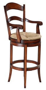 SWIVEL PASTORAL BAR CHAIR - WITH ARMS