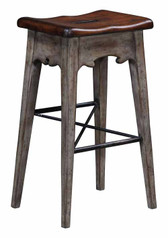 LODGE BAR STOOL-RUSTIC GREY