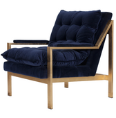Worlds Away Cameron G-Navy Chair