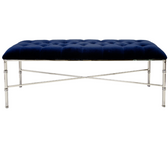 Worlds Away Stella Bench in Navy