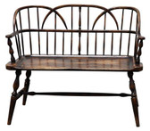 Accessoriesabroad Hoop Back Settee - Oak