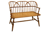 Accessoriesabroad Hoop Back Settee- Honey Oak