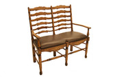 Accessoriesabroad Ladderback Settee - Honey Oak