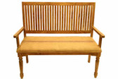Accessoriesabroad Slat Back Wood Bench With Durrie Seat