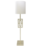 Worlds Away Wesley floor lamp in Silver