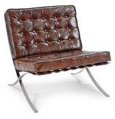 Regina Andrew cigar leather soho chair