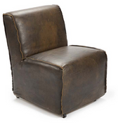Regina Andrew Java black rolling slipper chair
