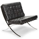 Regina Andrew Vintage black leather soho chair