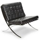Regina Andrew Vintage black leather soho chair