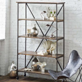 Industrial display shelf from Regina Andrew